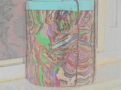 Polymer Digital Art - Polymer Clay Vase by Karen Matthews