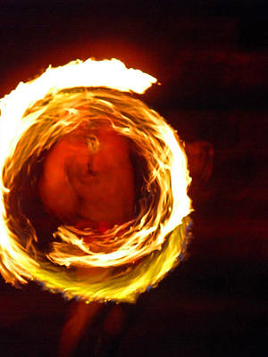 Photograph - Polynesian Fire Dancer I by Elizabeth Hoskinson