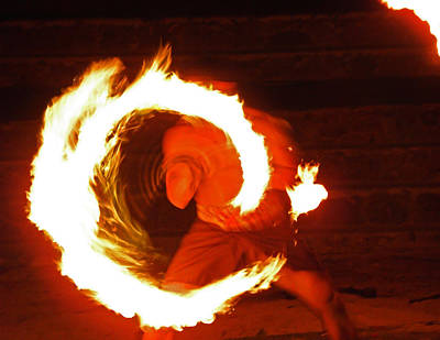 Photograph - Polynesian Fire Dancer II by Elizabeth Hoskinson
