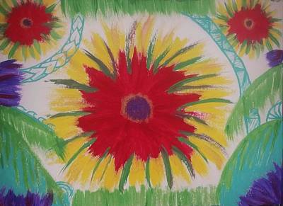 Samoan Painting - Polynesian Floral by Vale Anoa'i