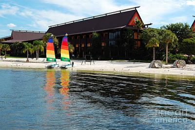 Photograph - Polynesian Resort Beach Walt Disney World Prints by Shawn O'Brien
