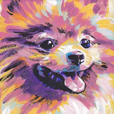 Pomeranian Painting - Pom Pom by Lea S