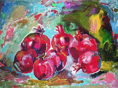Pomegranades Painting - Pomegranades by Emin Guliyev