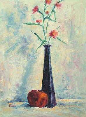 Pomegranate And Black Vase Art Print