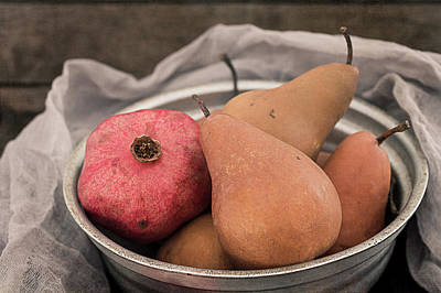 Photograph - Pomegranate And Pears by Teresa Wilson