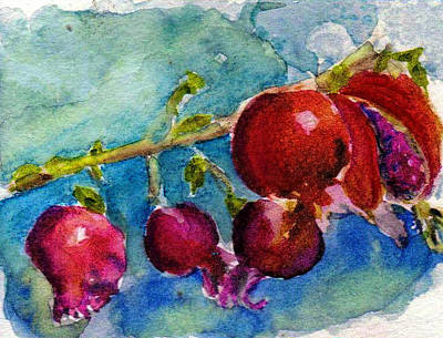 Painting - Pomegranate by Anne Duke