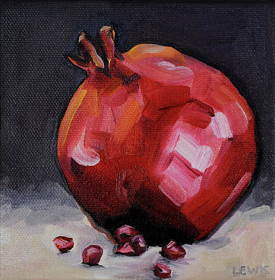 Painting - Pomegranate by Anne Lewis