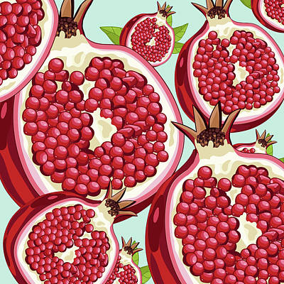 Pomegranate   Print by Mark Ashkenazi