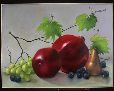 Pomegranate Art Print by Martha Zausmer paul