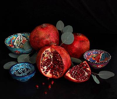 Photograph - Pomegranate Power by Sarah Phillips
