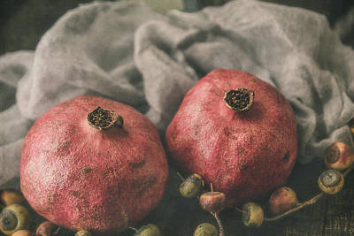 Photograph - Pomegranate Still Life 2 by Teresa Wilson