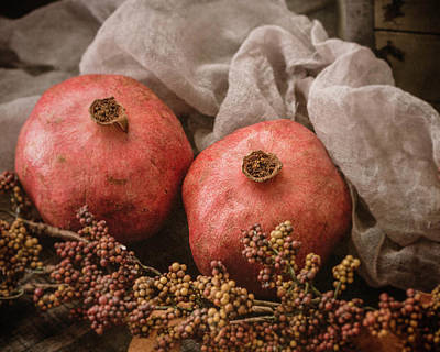 Photograph - Pomegranate Still Life by Teresa Wilson