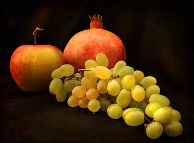 Photograph - Pomegranates And Grapes by Natalia Otrakovskaya