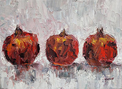 Painting - Pomegranates In A Row by Jill Musser