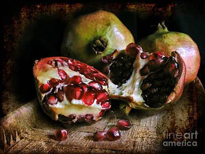 Photograph - Pomegranates N.2 by Silvia Ganora