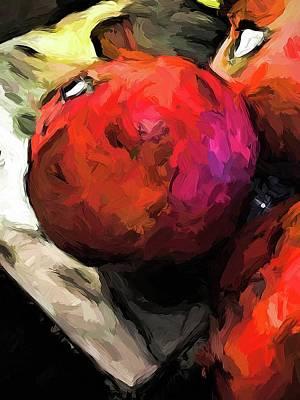 Digital Art - Pomegranates Of Red 2 by Jackie VanO
