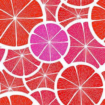 Pomelo Fruit Art Print