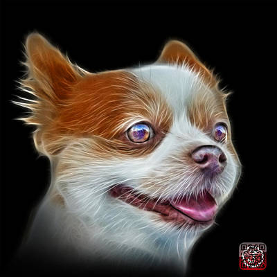 Painting - Pomeranian Dog Art 4584 - Bb by James Ahn