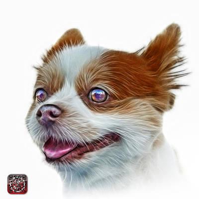 Painting - Pomeranian Dog Art 4584 - Wb by James Ahn