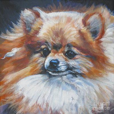 Pomeranian Wall Art - Painting - Pomeranian by Lee Ann Shepard