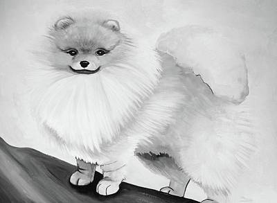 Animal Painting - Pomeranian by Mary Ellen Frazee