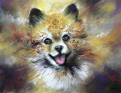 Mixed Media - Pomeranian by Patricia Lintner