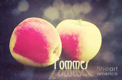Pleasure Mixed Media - Pommes by Angela Doelling AD DESIGN Photo and PhotoArt