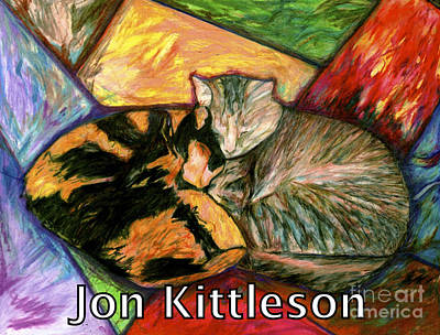 Drawing - Pompe And Dusty by Jon Kittleson