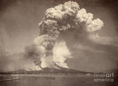 Photograph - Pompeii: Mount Vesuvius by Granger