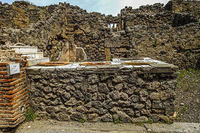 Photograph - Pompeii Thermopolium by Marilyn Burton