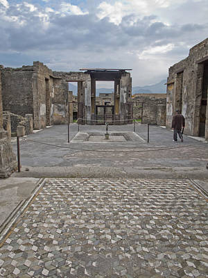 Photograph - Pompeii View With Mosaic by David Coblitz