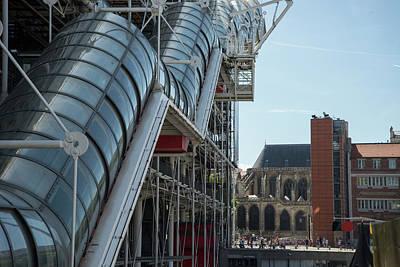 Digital Art - Pompidou Center In Paris France by Carol Ailles