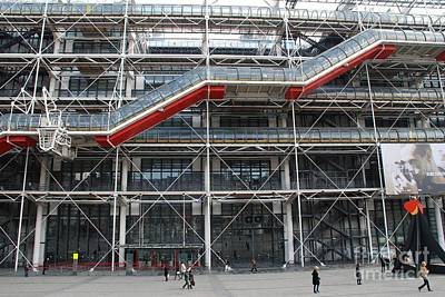Photograph - Pompidou Centre In Paris by David Fowler