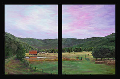 Arkansas Painting - Ponca Valley Diptych by Gary Duncan