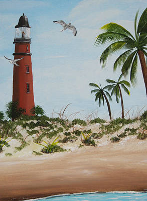 Ponce Inlet Light House Art Print by Bruce Reigle