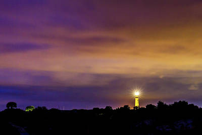 Photograph - Ponce Inlet Lighthouse At Twilight by Stefan Mazzola