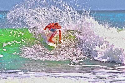 Photograph - Ponce Inlet Surfer Four by Alice Gipson