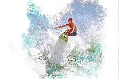 Photograph - Ponce Inlet Surfer Six by Alice Gipson