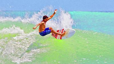 Photograph - Ponce Inlet Surfer Two by Alice Gipson