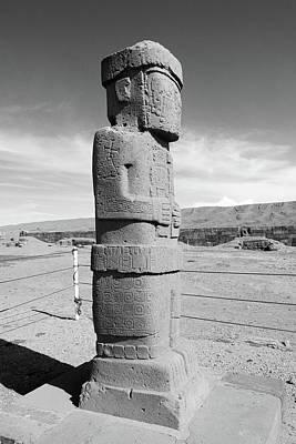 Photograph - Ponce Monolith, Tiwanaku by Aidan Moran