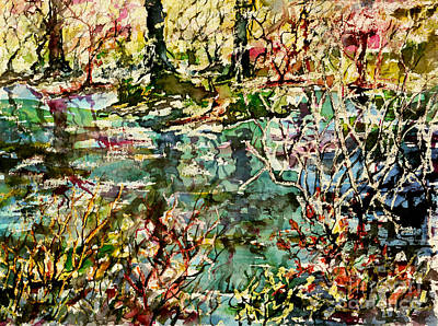 Painting - Pond And Beyond by Alfred Motzer