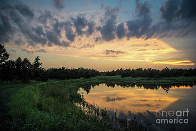 Photograph - Pond And Sunset by Cheryl McClure