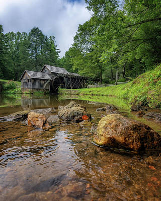 Photograph - Pond At Mabry Mill by Steve Hurt