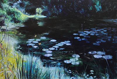 Painting - Pond At Port Meirion by Harry Robertson