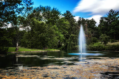 Cemetery Photograph - Pond At Spring Grove by Tom Mc Nemar