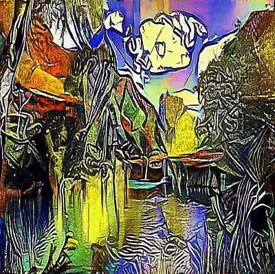 pond below the hill - My WWW vikinek-art.com Art Print by Viktor Lebeda
