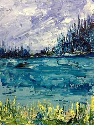Painting - Pond Blues by Desmond Raymond