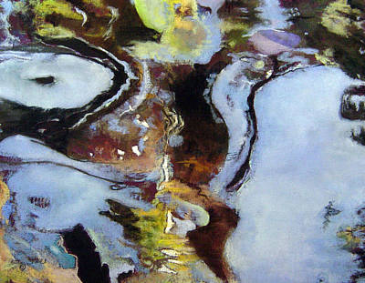 Pastel - Pond Currents by Anita Stoll