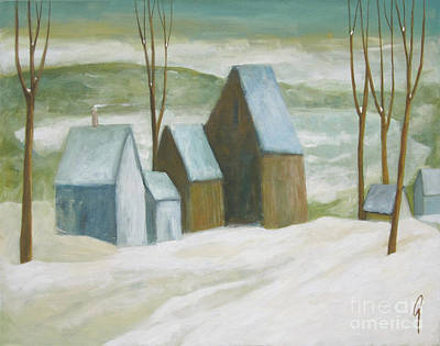 Painting - Pond Farm In Winter by Glenn Quist