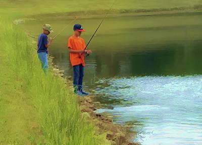 Photograph - Pond Fishing by Greg Jackson